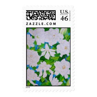 Hawaiian Gardenias Postage Stamp