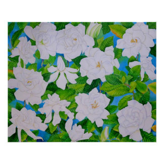 Hawaiian Gardenias Poster