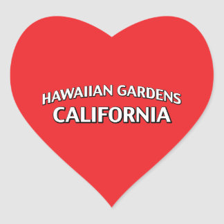 Hawaiian Gardens California Heart Sticker