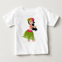Hawaiian Girl Baby T-Shirt