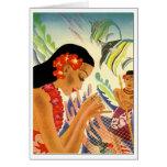 Hawaiian Girl Card