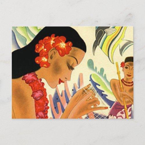 Hawaiian Girl zazzle_postcard