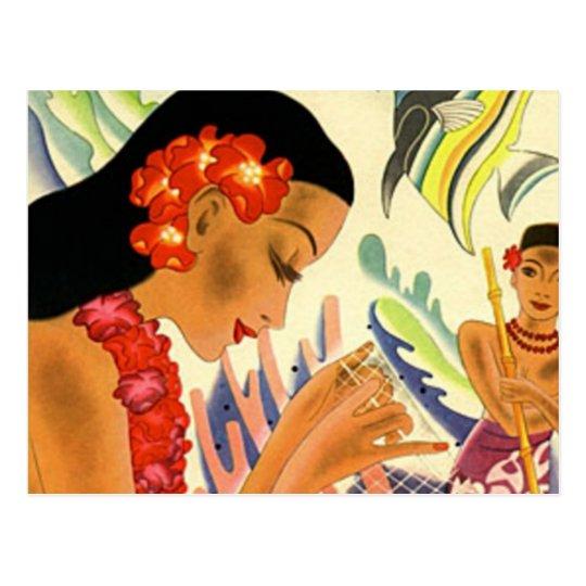 Hawaiian Girl Postcard