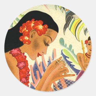 Hawaiian Girl Stickers