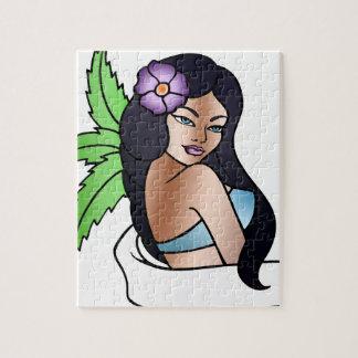 hawaiian girl tattoo jigsaw puzzle