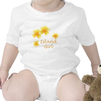 Hawaiian Girl Tropical Floral Infants Baby Creeper
