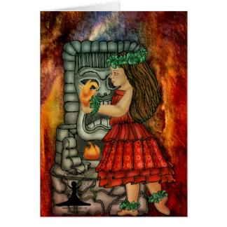 Hawaiian goddess Pele by Mythic Fairy Art Greeting Card