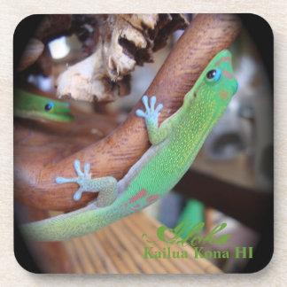 Hawaiian Gold Dust Gecko Coasters