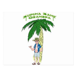 Hawaiian Grandpa Postcard