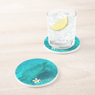 Hawaiian Green Sea Turtle Drink Coaster