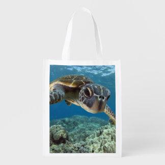 Hawaiian Green Sea Turtle Grocery Bag