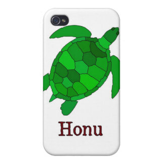 Hawaiian Green Sea Turtle on White iPhone 4 Covers
