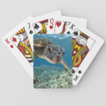 "Hawaiian Green Sea Turtle Playing Cards<br><div class=""desc"">A Hawaiian gree sea turtle investigates his reflection in my dome port. &#169; and &#174; Bigstock&#174; - All Rights Reserved.</div>"