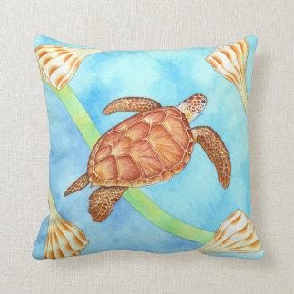 Hawaiian Green Sea Turtle Throw Pillow
