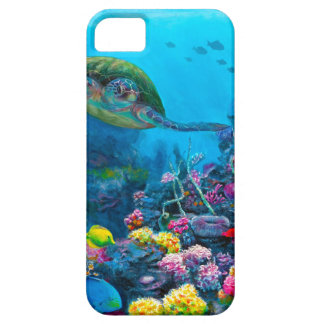 Hawaiian Green Sea Turtle Tropical Fish Reef iPhone SE/5/5s Case