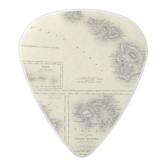 Hawaiian Group Or Sandwich Islands Acetal Guitar Pick