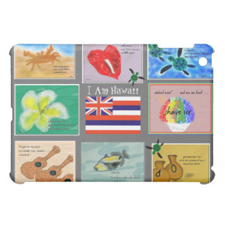 Hawaiian Haiku Art Compilation iPAD Customizable H Case For The iPad Mini