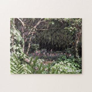 Hawaiian Hawaii Scenery Green Lush Landscape Flora Jigsaw Puzzle