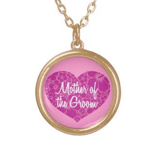 Hawaiian Heart Mom of Groom Necklace