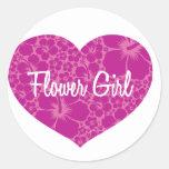 Hawaiian Heart Wedding Sticker