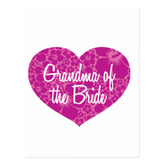 Hawaiian Hearts Grandma of the Bride Postcard