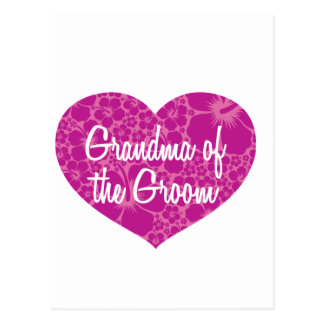 Hawaiian Hearts Grandma of the Groom Postcard