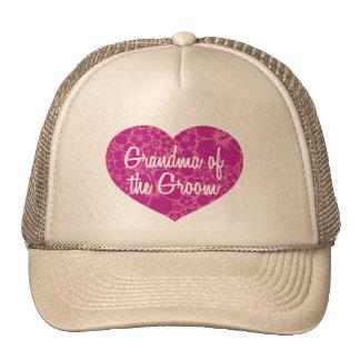 Hawaiian Hearts Grandma of the Groom Trucker Hat