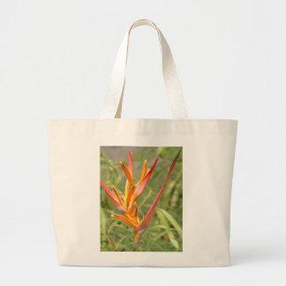 Hawaiian Heliconia Flower Tote Bag