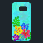 "Hawaiian Hibiscus Aqua Blue Samsung S7 Samsung Galaxy S7 Case<br><div class=""desc"">Phone case for the Samsung Galxay S7 smartphone with a tropical design.  Aqua blue in color with bright Hawaiian hibiscus flowers.  This colorful case fits many types of Samsung phones.  Or change the phone model using the drop-down menu to find cases for the iPhone as well.</div>"