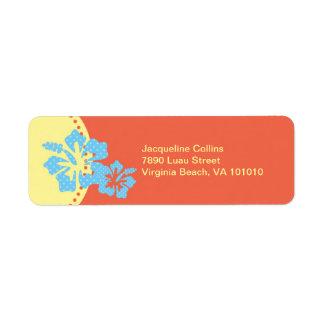 Hawaiian Hibiscus Avery Label
