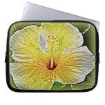 Hawaiian Hibiscus Electronics Bag Laptop Computer Sleeve