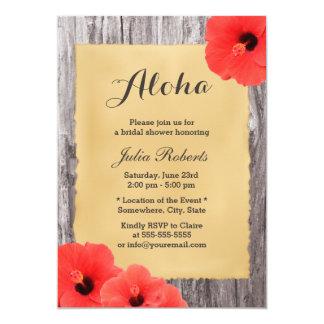Hawaiian Hibiscus Floral Aloha Bridal Shower Card