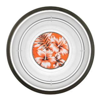 Hawaiian Hibiscus Flower Background Pet Bowl