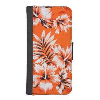 Hawaiian Hibiscus Flower Background iPhone 5 Wallet Cases