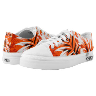 Hawaiian Hibiscus Flower Background Printed Shoes