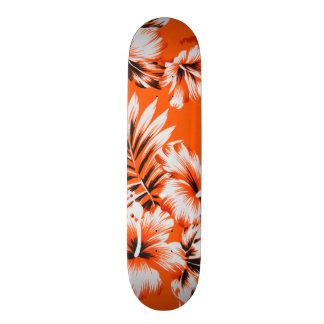Hawaiian Hibiscus Flower Background Skate Board Decks