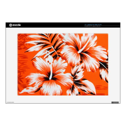 Hawaiian Hibiscus Flower Background Skins For Laptops