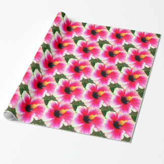 Hawaiian Hibiscus flower Birthday wrapping paper