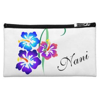 Hawaiian Hibiscus Flower Nani Beautiful Makeup Bag