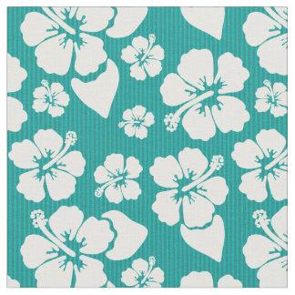 Hawaiian Hibiscus Flower Pattern Fabric