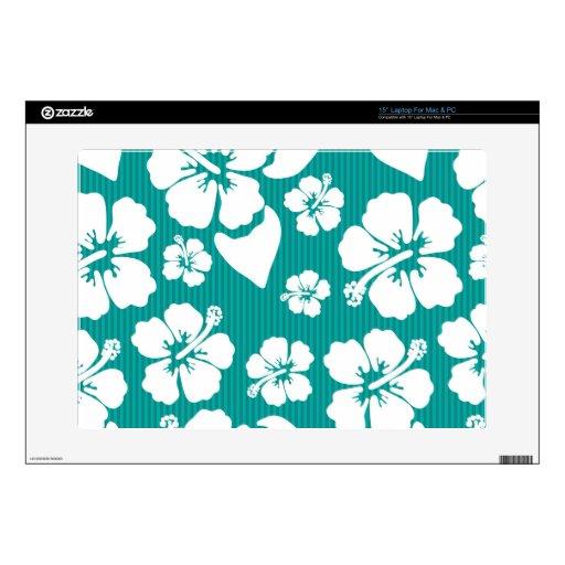 Hawaiian Hibiscus Flower Pattern Laptop Skin