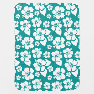 Hawaiian Hibiscus Flower Pattern Stroller Blanket