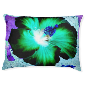 Hawaiian Hibiscus flower pet bed Large Dog Bed