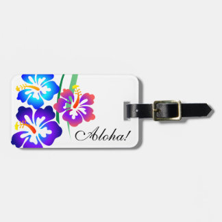 Hawaiian Hibiscus Flowers Aloha Luggage Tag