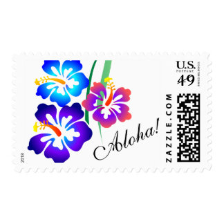 Hawaiian Hibiscus Flowers Aloha Postage