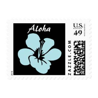 Hawaiian Hibiscus Flowers Aloha Postage Stamp