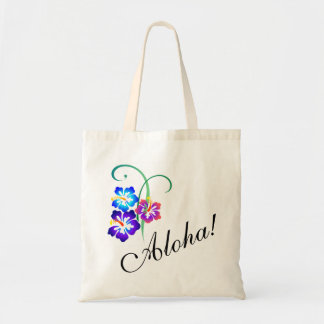 Hawaiian Hibiscus Flowers Aloha Tote Bag