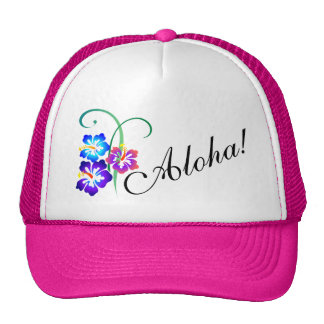 Hawaiian Hibiscus Flowers Aloha Trucker Hat