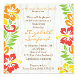 "Hawaiian Hibiscus Flowers Invitation 5.25"" Square Invitation Card"