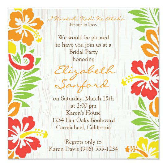 Hawaii Wedding Invitations Announcements Zazzle